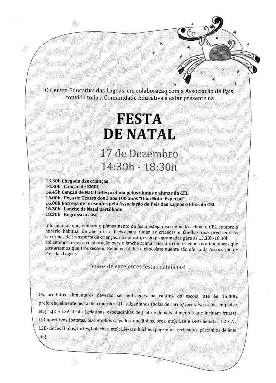 Centro Educativo das Lagoas-FESTA DE NATAL-2019