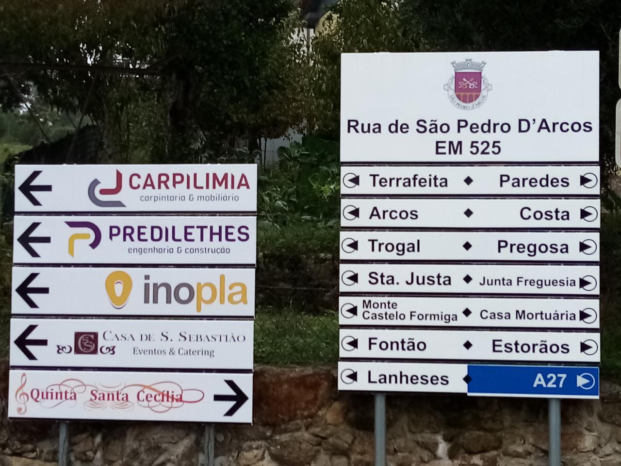 Placas de informação-Centro