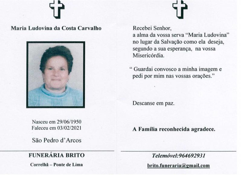 Maria Ludovina da Costa Carvalho