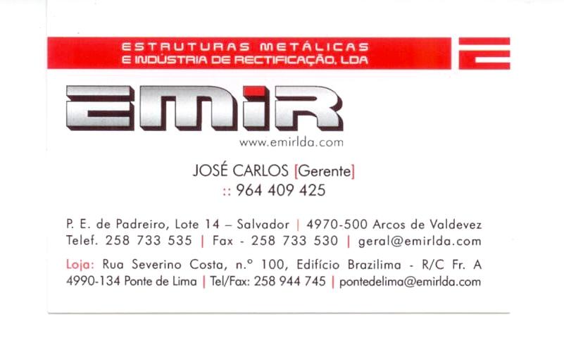 EMIR-Estruturas Metálicas e Indústria de Rectificação, Lda
