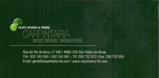 Filipe Afonso & Irmão - CARPINTARIA