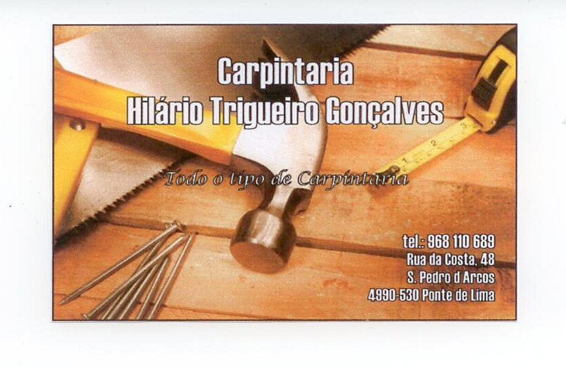 CARPINTARIA - Hilário Trigueiro Gonçalves