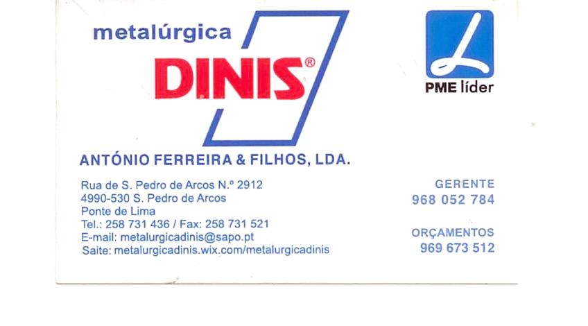 Metalúrgica DINIS - António Ferreira & Filhos, Ldª